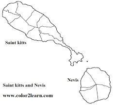 saint kitts and nevis coloring pages and facts flag