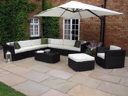 Cb2 Outdoor Furniture Oakita Rattan Garden Furniture Corner Sofa And King Parasol
