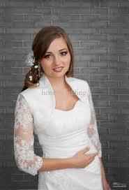 dress jackets wedding 2018 custom made bridal jacket shawls shrugs style 3 4