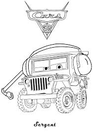 car 2 coloring pages print