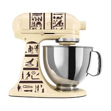 heiroglyphics themed vinyl decal for kitchenaid mixer 4 quart and