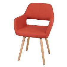 Orange Dining Chair Joveco Modern Velvet Open Back Dining Chair Orange Red Joveco Com