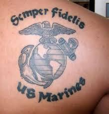 semper fidelis eagle globe and anchor marine corps tattoo tattoomagz