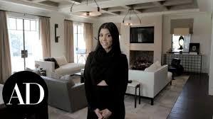 inside kourtney kardashian u0027s home for her ad cover shoot youtube