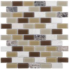 shop elida ceramica carmel brick mosaic stone and glass travertine