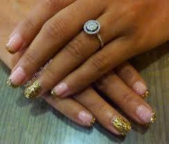 nailart and things nailspa experience festive glitter mani
