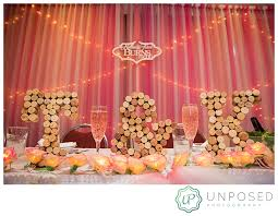 wedding backdrop letters pink literary themed wedding ramada galena