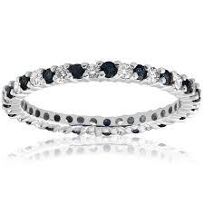3 4ct pave halo blue diamond wedding ring anniversary thin pave band 1 2ct blue