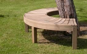 a traditionally elegant galvanised steel tree seat simple lines