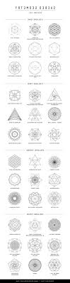 unique sacred geometry symbols meaning library vector