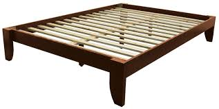 Wood Platform Bed Frames Copenhagen All Wood Platform Bed Frame King Medium