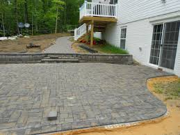 Retaining Wall Patio Brick Paver Patio Walkway And Retaining Wall Landscaping