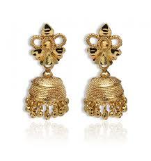 stylish gold earrings stylish trendy gold plated jhumki earrings buy online kollam supreme