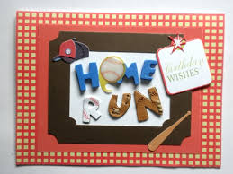 home run baseball themed birthday card clairemdesigns on artfire