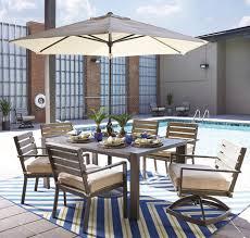 Outdoor Patio Set With Umbrella Outdoor And Patio Furniture Super Center