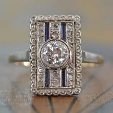 antique diamonds rings images Art deco diamond ring unique engagement ring antique diamond jpg