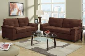 Comfortable U0026 Casual Sofas La by Elimination Brown Fabric Sofa And Loveseat Set Steal A Sofa
