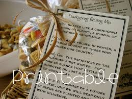 printable pdf thanksgiving blessing mix thanksgiving gift