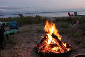 Beach Fire Pit by Sunset At Balsams Beach Over Lake Michigan Picture Of Balsams