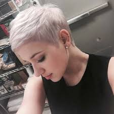 cropped hairstyles with wisps in the nape of the neck for women pixiehair pinteres