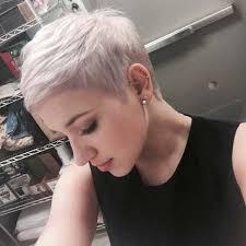 short white hair pixiehair pinteres