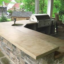 outdoor kitchen countertops ideas concrete countertops in outdoor kitchen ideas for clients