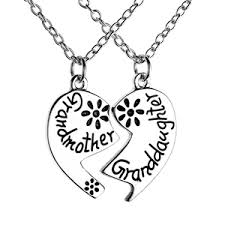 grandmother and granddaughter necklaces heart grandmother granddaughter pendant necklace jewels