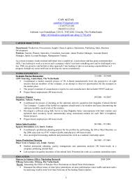 Junior Product Manager Resume Can Altay Cv