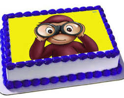 curious george cake topper curious george centerpiece cutouts personalized curious