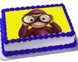 curious george cakes curious george centerpiece cutouts personalized curious