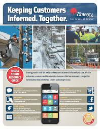 Entergy Outage Map Louisiana Media Storm Resource Guide Infographic