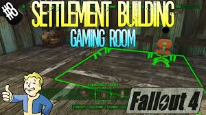 fallout 4 settlement building part 8 gaming room youtube