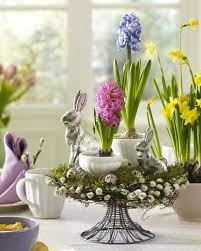 Easter Decorations Table Centerpieces Made as Nests