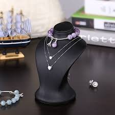 elegant black necklace images Elegant black mannequin mini jewelry display bust necklace holder jpg