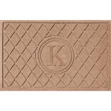 K Flooring by Bungalow Flooring Argyle Medium Brown 24 In X 36 In Monogram K