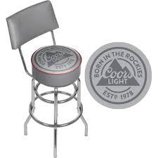 coors light bar stools sale coors light born in the rockies gray padded chrome swivel bar stool