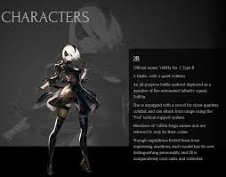 nier automata story u0026 character description neogaf