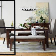 farm tables with benches carroll farm dining table west elm