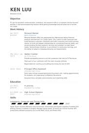 Banking Sample Resume by Personal Banker Resume Samples Visualcv Resume Samples Database