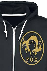 metal gear sold v amazon black friday amazon com gaya novelty metal gear solid v fox zip up hoodie x