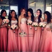 bridesmaid dresses coral 2017 coral chiffon bridesmaid dresses cheap custom strapless