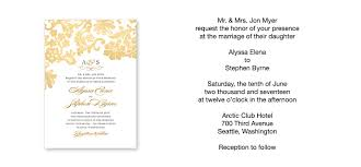 wedding invitation wording etiquette sle of wedding invitation marialonghi