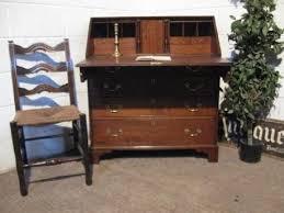 in bureau antique georgian oak bureau with secret drawers c1780 48469