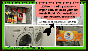 cleaning your lg front load washer u0026 dryer inside out laundry