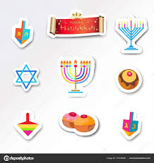 hanukkah stickers happy hanukkah stickers set traditional symbols