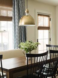 Window Treatments For Dining Room Kitchen Dining Area Fresh Contemporary Take On Traditional