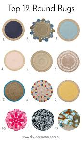 10 Round Rug by Round Rugs Roundup Diy Decorator