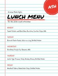 cacfp menu template school menu template