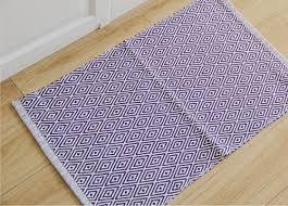 teppich k che moderne geometrische diamant baumwolle handgemachte 45x70 cm