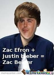 Zac Efron Meme - zac efron justin bieber zac bieber wtf by andrew63136 meme